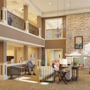 Senior Living Architectural Rendering Lobby