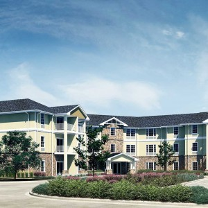 Exterior Architectural Rendering Senior Living