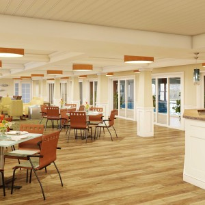 Dining and Cafe architectural rendering
