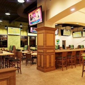 Architectural Rendering pub and grill