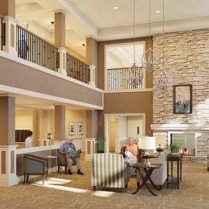 Senior Living Architectural Rendering Lobby