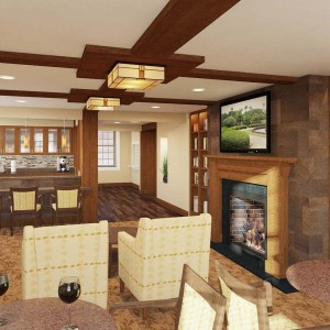 Library and Clubroom Architectural Rendering