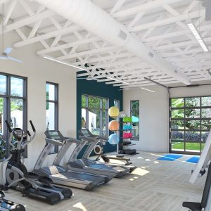 fitness architectural rendering